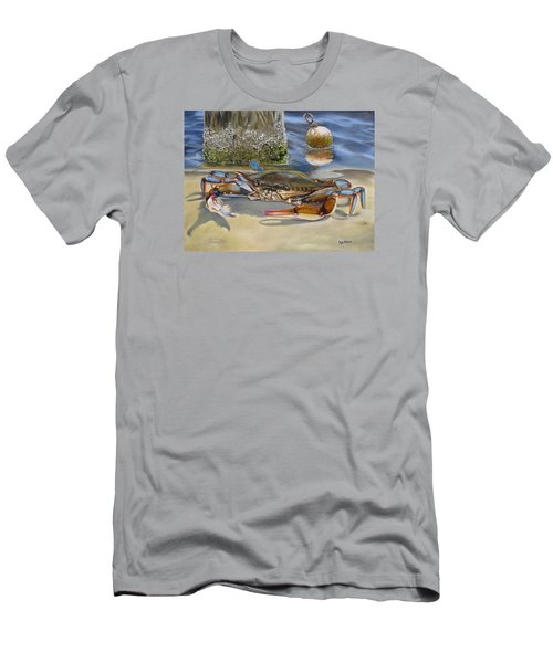 Crab On The Shoreline Men's T-Shirt (Slim Fit) by Phyllis Beiser