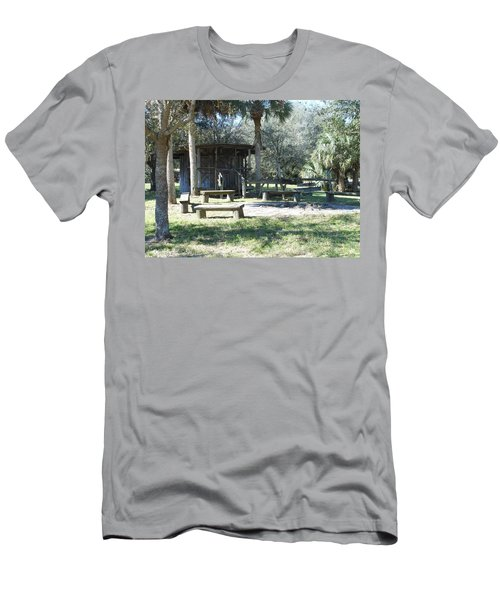 Cracker Cow Hunter Shack Men's T-Shirt (Slim Fit) by Kay Gilley