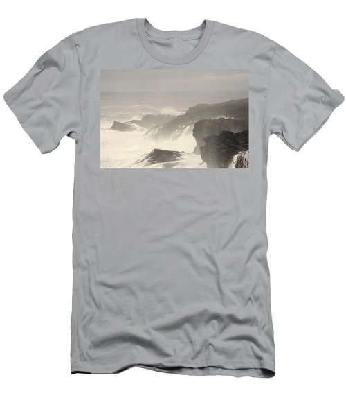 Men's T-Shirt (Slim Fit) featuring the photograph Crashing Waves by Angi Parks