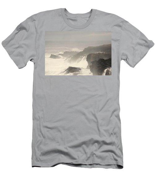 Crashing Waves Men's T-Shirt (Slim Fit) by Angi Parks