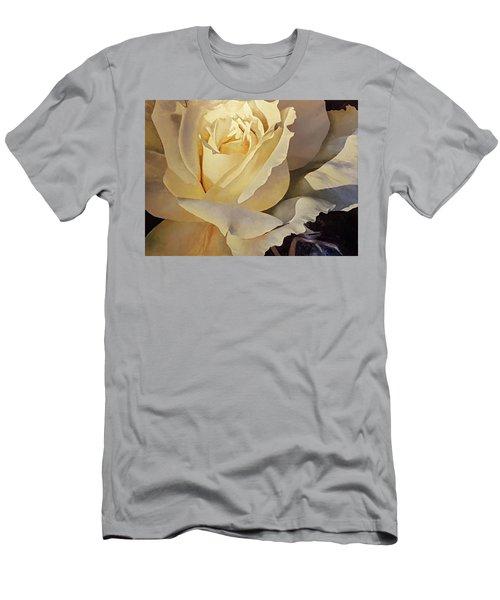 Creamy Rose Men's T-Shirt (Athletic Fit)