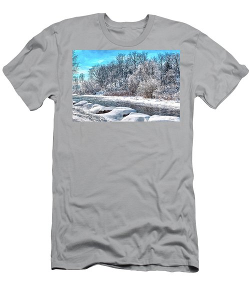 Credit River At Winter Men's T-Shirt (Athletic Fit)