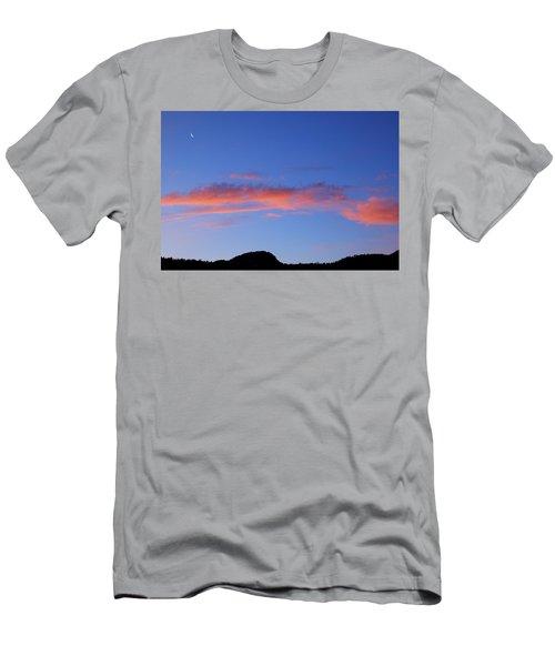 Crescent Moon At Dawn Men's T-Shirt (Athletic Fit)