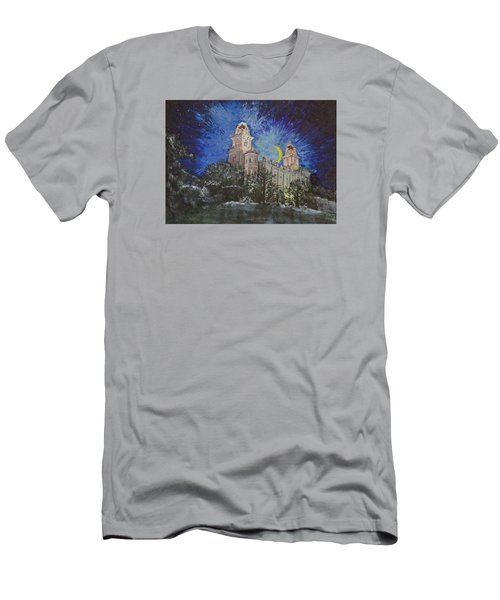 Men's T-Shirt (Slim Fit) featuring the painting Crescent Moon by Jane Autry