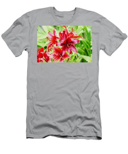 Crimson Lilies Men's T-Shirt (Athletic Fit)