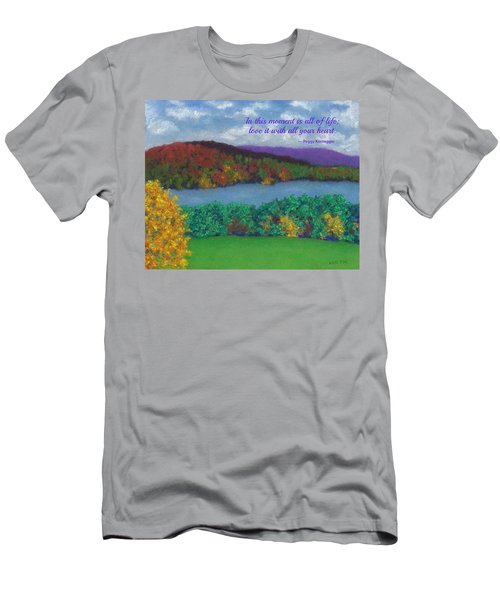 Crisp Kripalu Morning - With Quote Men's T-Shirt (Athletic Fit)