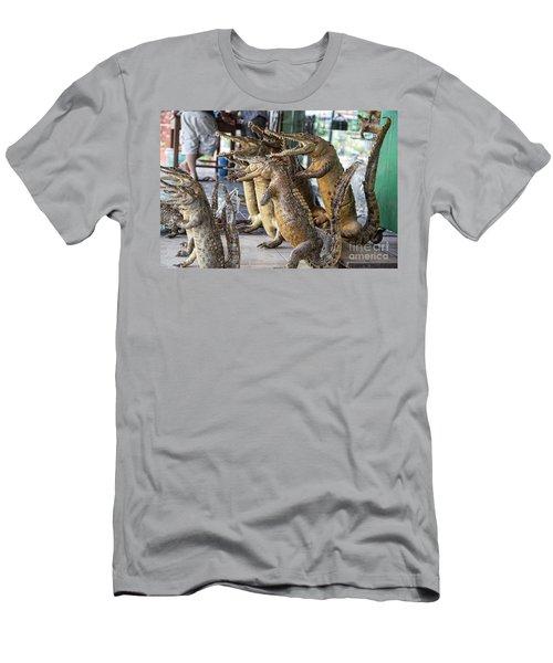 Crocodiles Rock  Men's T-Shirt (Slim Fit) by Chuck Kuhn