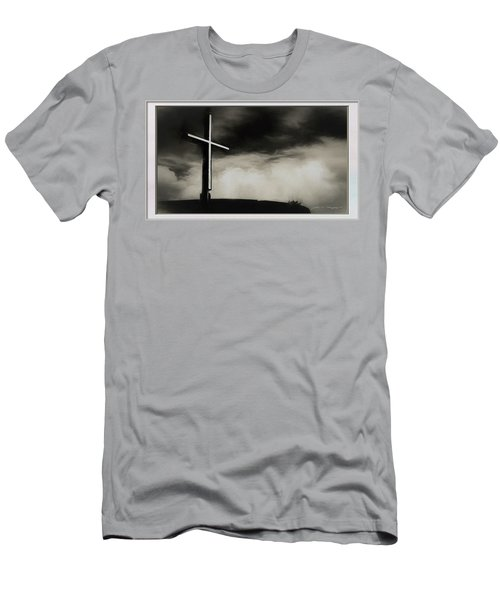 Cross On A Hill Men's T-Shirt (Athletic Fit)