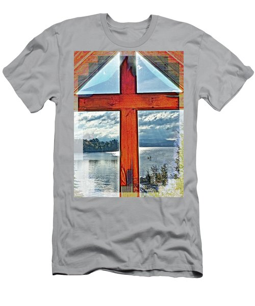 Cross Window Lake View  Men's T-Shirt (Athletic Fit)