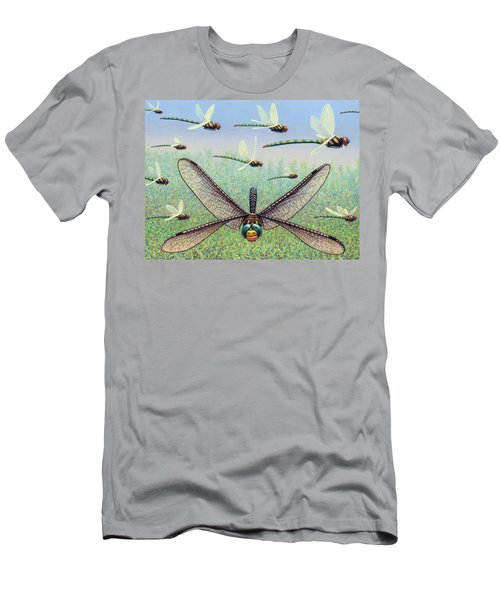 Men's T-Shirt (Slim Fit) featuring the painting Crossways by James W Johnson