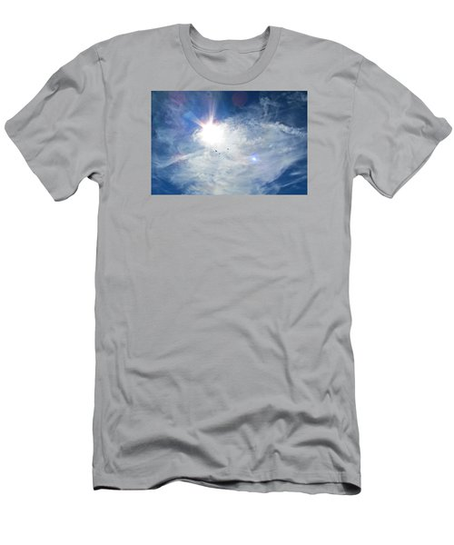 Men's T-Shirt (Slim Fit) featuring the photograph Crows Above by Brenda Pressnall