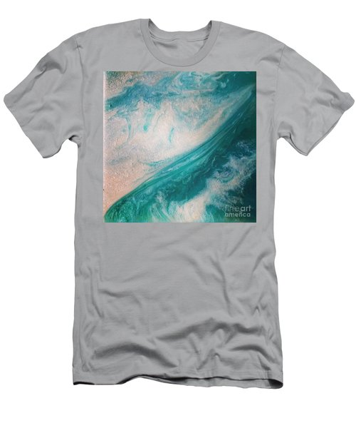 Crystal Wave15 Men's T-Shirt (Athletic Fit)