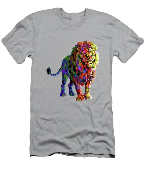 Geometrical Lion King Men's T-Shirt (Athletic Fit)