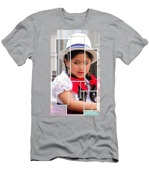 Men's T-Shirt (Slim Fit) featuring the photograph Cuenca Kids 890 by Al Bourassa