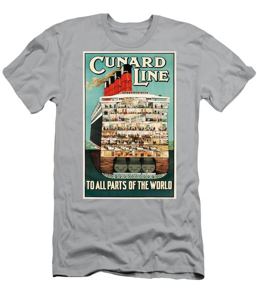 Cunard Liner Poster Men's T-Shirt (Athletic Fit)