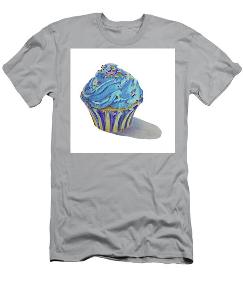 Men's T-Shirt (Slim Fit) featuring the drawing Cupcake by Terri Mills