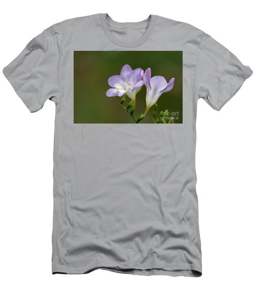 Cupertino Lavender Freesias Men's T-Shirt (Athletic Fit)