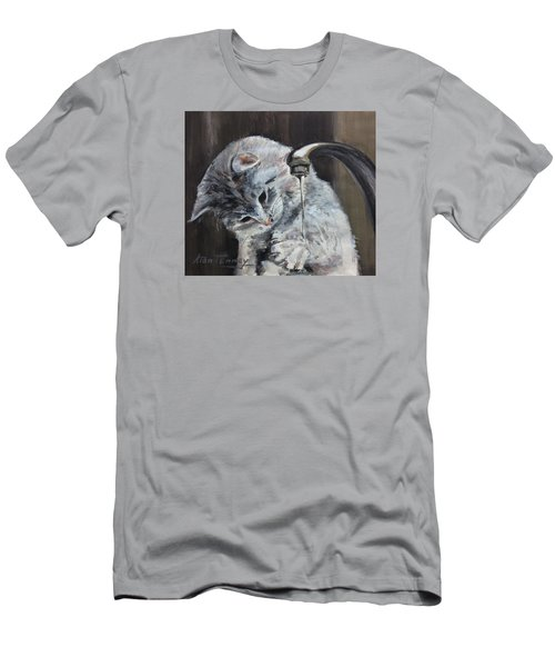 Men's T-Shirt (Slim Fit) featuring the painting Curiosity by Stan Tenney