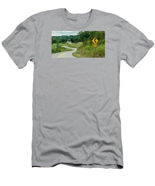 Curves Men's T-Shirt (Slim Fit) by Dan Traun