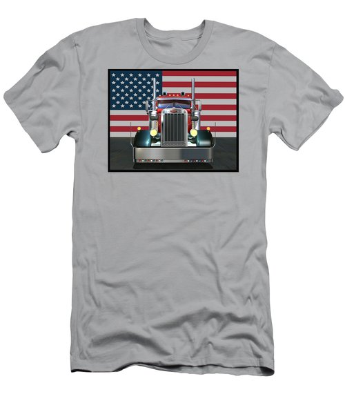 Custom Peterbilt 2 Men's T-Shirt (Athletic Fit)