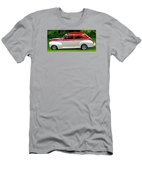 Customized Forty One Chevy Hot Rod Men's T-Shirt (Slim Fit) by Marsha Heiken