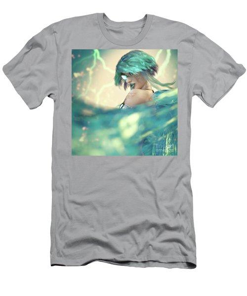 Cyan Men's T-Shirt (Athletic Fit)