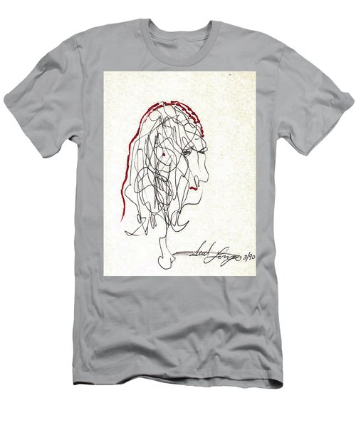 Da Vinci Drawing Men's T-Shirt (Athletic Fit)