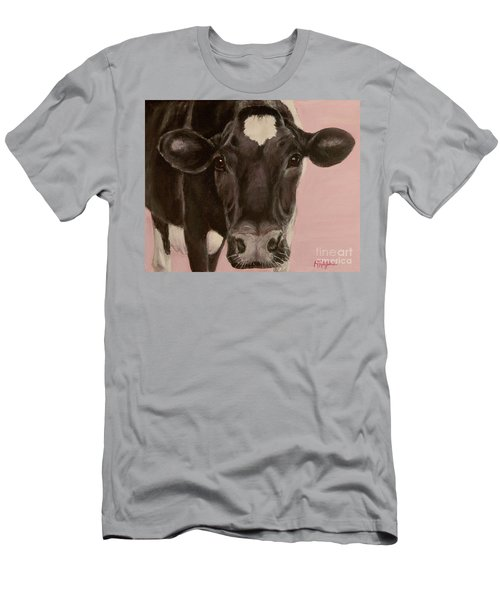 Dairy Cow Princess In Pink Men's T-Shirt (Athletic Fit)