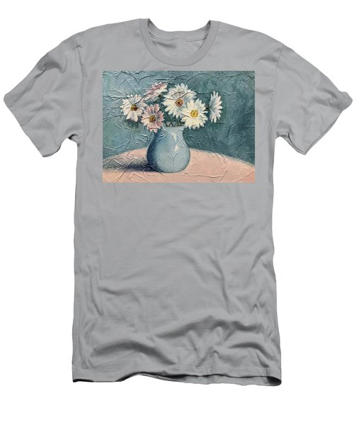 Daisies Men's T-Shirt (Slim Fit) by Janet King