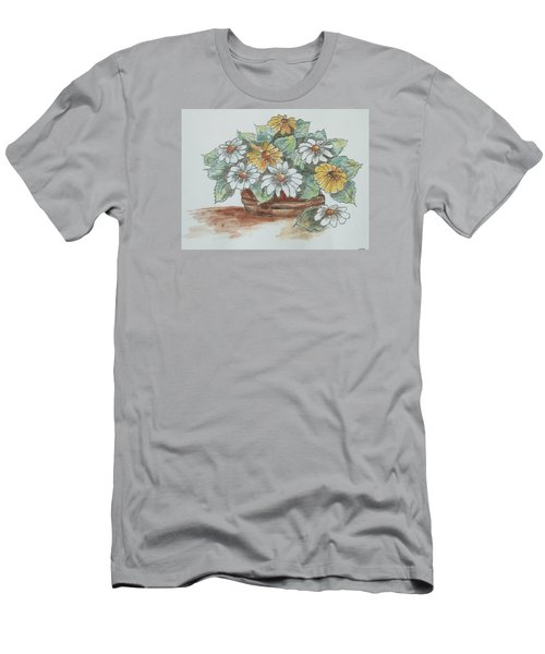 Men's T-Shirt (Slim Fit) featuring the painting Daisy Craze by Sharyn Winters