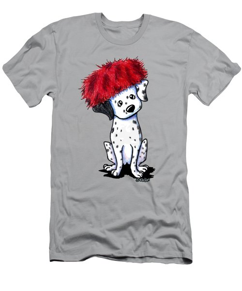 Dalmatian In Red Men's T-Shirt (Athletic Fit)