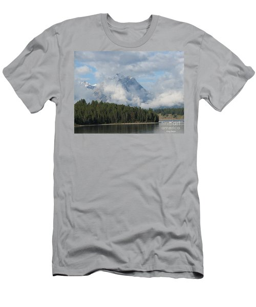 Men's T-Shirt (Slim Fit) featuring the photograph Dam Clouds by Greg Patzer