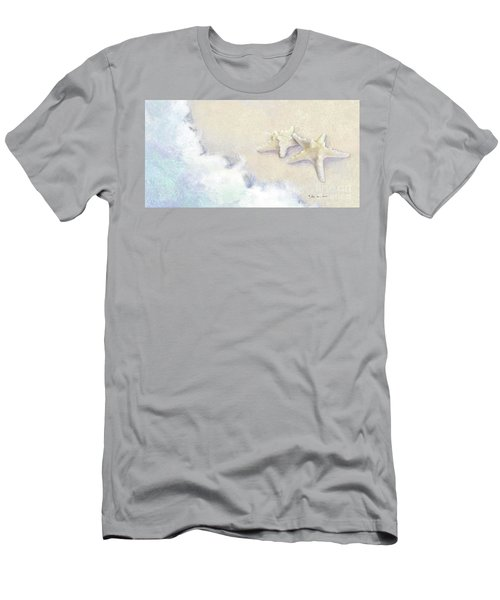 Men's T-Shirt (Athletic Fit) featuring the painting Dance Of The Sea - Knobby Starfish Impressionstic by Audrey Jeanne Roberts