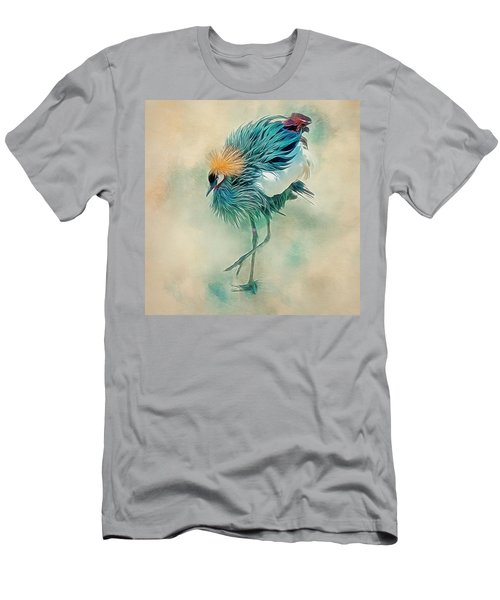 Dancing Crane Men's T-Shirt (Athletic Fit)