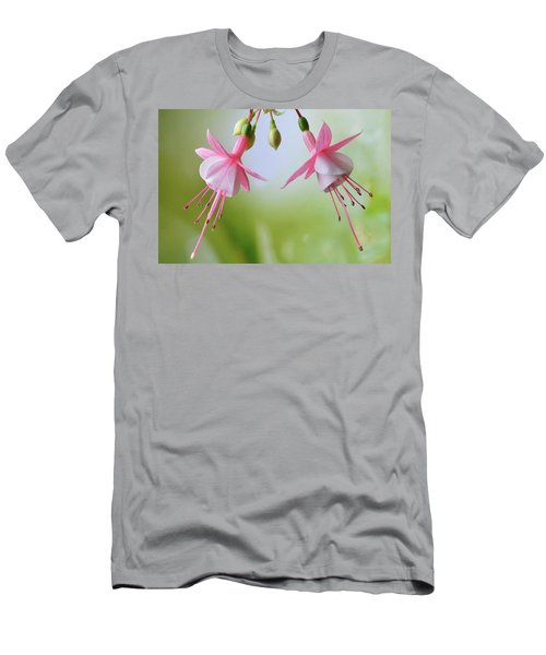 Men's T-Shirt (Slim Fit) featuring the photograph Dancing Fuchsia by Terence Davis