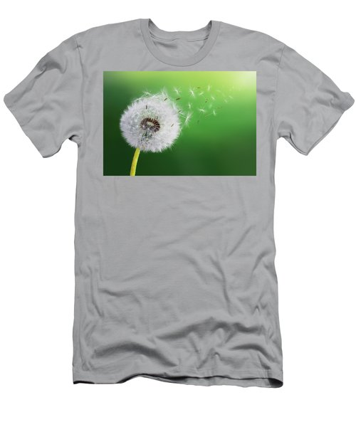 Men's T-Shirt (Slim Fit) featuring the photograph Dandelion Seed by Bess Hamiti