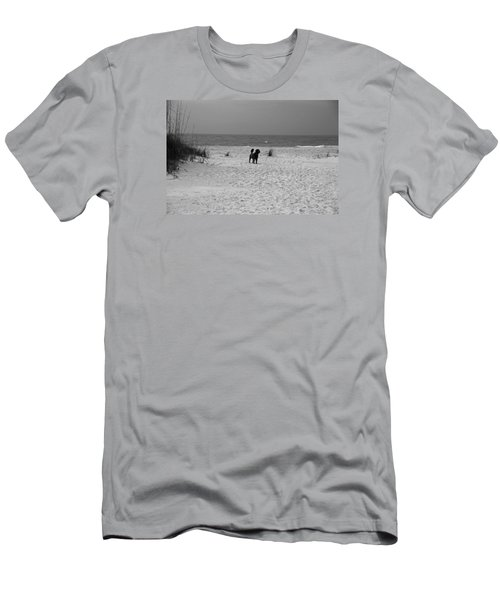 Men's T-Shirt (Slim Fit) featuring the photograph Dandy On The Beach by Michiale Schneider