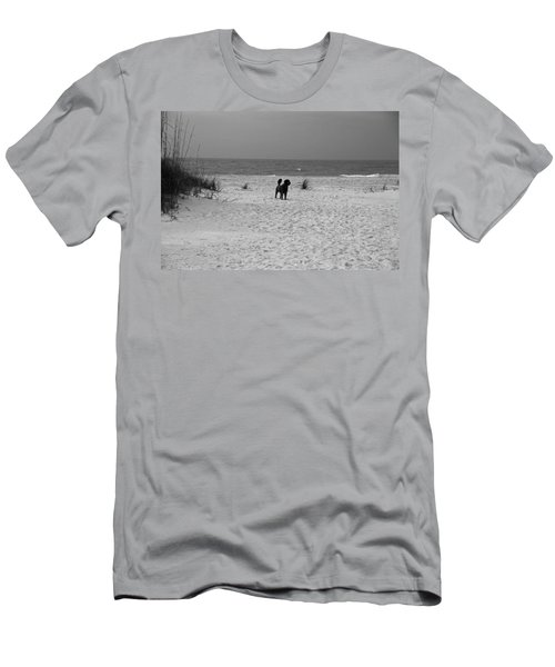 Dandy On The Beach Men's T-Shirt (Athletic Fit)