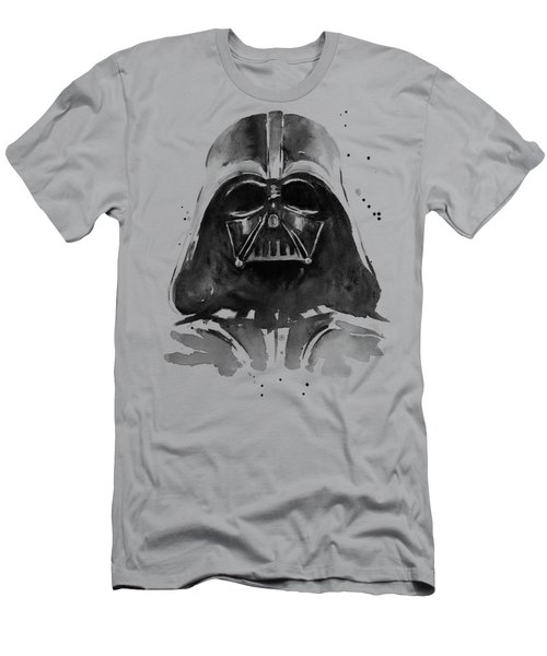 Darth Vader Watercolor Men's T-Shirt (Slim Fit) by Olga Shvartsur