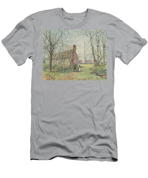 David Burns's Cottage And The Washington Monument, Washington Dc, 1892  Men's T-Shirt (Athletic Fit)