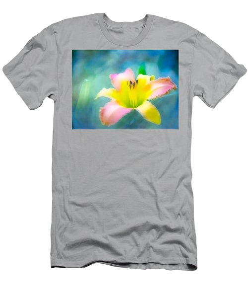 Daylily In Blue Men's T-Shirt (Athletic Fit)
