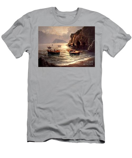 Day's End And Work Begins In The Gulf Of Naples Men's T-Shirt (Athletic Fit)