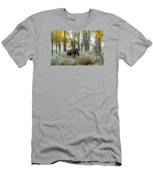 Men's T-Shirt (Slim Fit) featuring the photograph Day's End At Gros Ventre by Yeates Photography