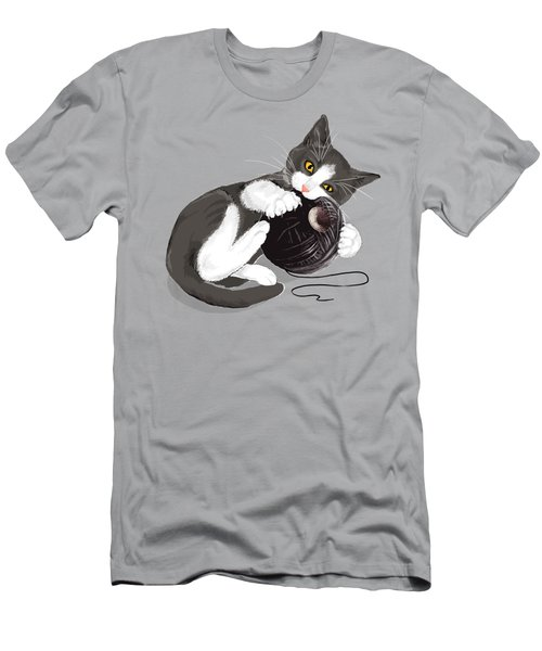 Death Star Kitty Men's T-Shirt (Slim Fit) by Olga Shvartsur