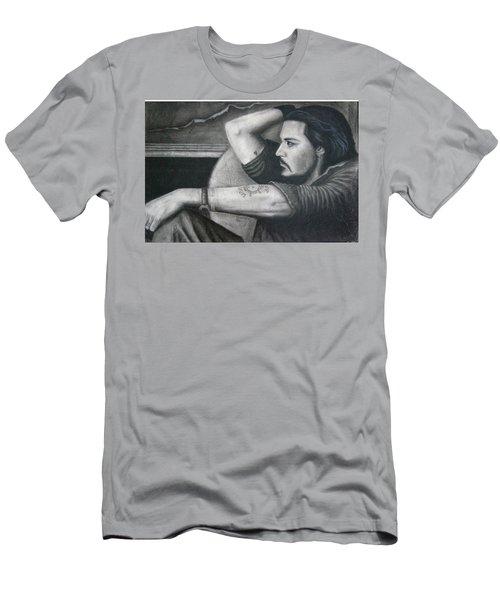 Deep Contemplation  Men's T-Shirt (Athletic Fit)