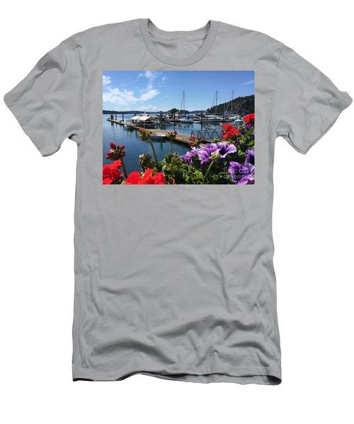 Men's T-Shirt (Slim Fit) featuring the photograph Deer Harbor By Day by William Wyckoff
