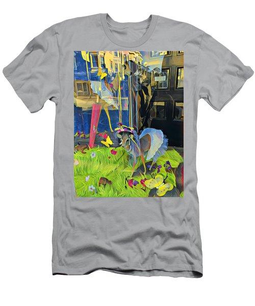 Deer In Headlights Men's T-Shirt (Athletic Fit)