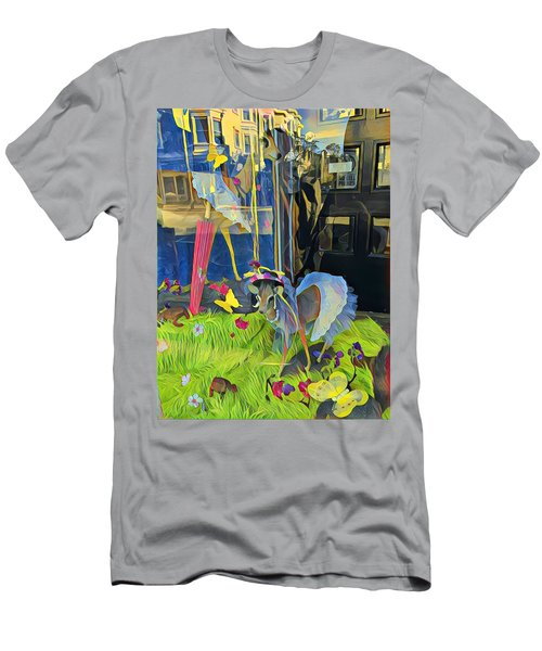 Deer In Headlights Men's T-Shirt (Athletic Fit)