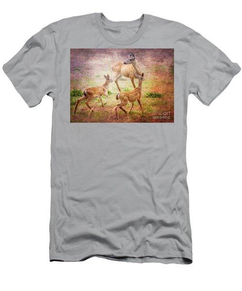 Deer On Vancouver Island Men's T-Shirt (Athletic Fit)