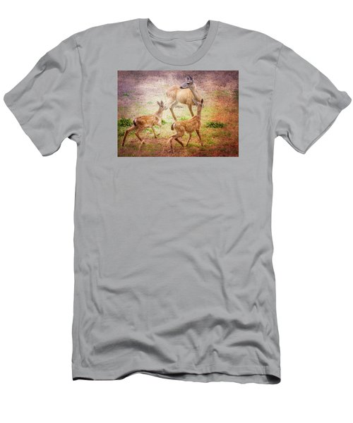 Deer On Vancouver Island Men's T-Shirt (Athletic Fit)